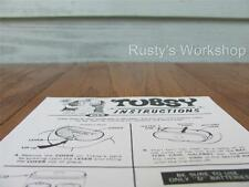 1967 Ideal TUBSY doll operating INSTRUCTIONS (Reproduction)