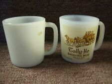 Lot of 2 Vintage Tally-Ho Shaving Mugs Fifth Ave. New York City