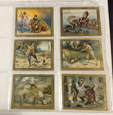 Set of 6 Turkish Trophies Cigarettes Fable Series Cards