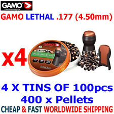 GAMO LETHAL .177 Airgun Pellets 4(tins)x100pcs NEW HUNTING PERFORMANCE