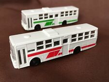 TOMY TOMIX 3512 CITY BUS COACH Set of 2 N Scale 1/160 Train Layout white red