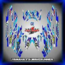 YAMAHA FX CRUISER SHO WAVERUNNER jetski SEMI CUSTOM GRAPHICS  DECALS BLUEWASH