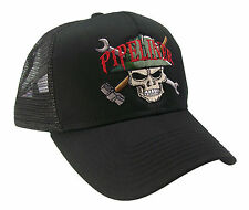 Pipeliner Skull Construction Oilfield Roughneck Embroidered Mesh Cap Hat