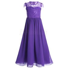 Kids Girls Wedding Bridesmaid Birthday Pageant Ball Gown Prom Formal Party Dress