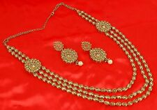 Indian Bollywood Gold Plated Fashion Bridal Jewelry Necklace Set 2287