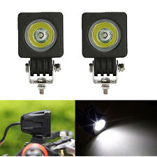 "2pcs 10W CREE High Power LED Work Light Off Road Bike Motorcycle 2"" PODS Spot"