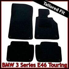 BMW 3-Series E46 Touring 1998-2006 Tailored Fitted Carpet Car Floor Mats BLACK