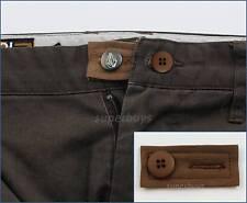 Brown Extender & Button Pants Shorts Skirt Jeans Trouser Waist Line Widen Expand