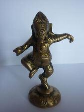 GANESH CHE DANZA METALLO ORO india induismo spirito energia statua orientale ki