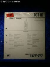 Sony Service Manual DCT H1 Cordless Telephone (#0741)
