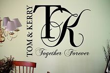 Personalised Name Together Forever Love Wall Art Sticker Decal Bedroom