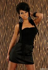 Party Club Formal Wear Modern Stylish Mini Dress UK size 8-10 - Black
