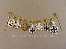 7er Miniaturkette: Ritterkreuz mit Eichenlaub, EK, KVK, Eisernes Kreuz, Pol-Da