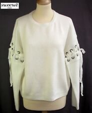 SWEEWE - PULL M. LONGUES MAILLE CREME & LACETS TAILLE U = 36/38 - EXCL. ETAT