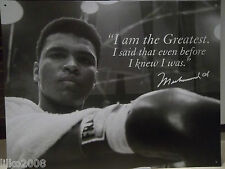 MUHAMMAD ALI, THE GREATEST BOXER,  LARGE METAL WALL SIGN 40X30cm, 16X12 INCH