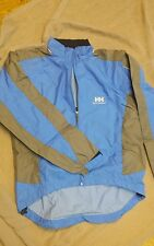 HELLY HANSEN BLUE GRAY JACKET GREAT FOR WORK RAIN OR SPORT SIZE M. MINT CONDIT