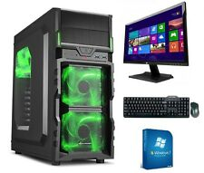 gamer pc game komplett Set mit monitor TFT Computer Rechner AMD FX 4300 8GB RAM