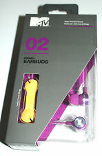 MTV 02 STEREO EARPHONE EARBUDS HIGH-PERFORMANCE WIRED WRAP PURPLE EB3702-PU