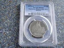 Germany GDR 10 Mark 1972 Meissen Cathedral PCGS highest known grading MS68