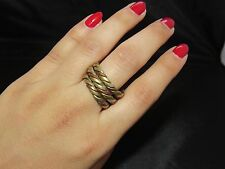 Nepalese Handmade Adjustable Spiral Ring Band Authentic
