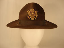Military CAMPAIGN HAT U.S. ARMY DRILL INSTRUCTOR WITH EAGLE SIZE 6 3/4.