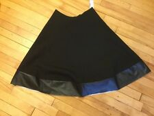 Marc Jacobs Black A-Line Skirt With Faux Leather Trim, Size 4, New!