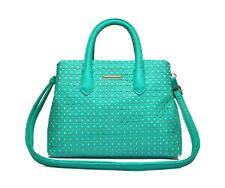 LARGE GREEN TOTE SHOPPER BAG LARGE TOTE ELEGANT FLORAL LASER CUT OUT DESIGN JoSa