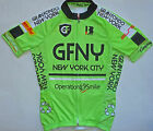 GRAN FONDO NEW YORK pro cycling jersey fluo neon green Made in Italy