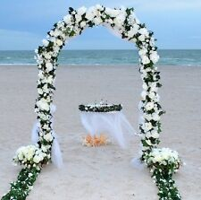 "90"" WHITE METAL ARCH Wedding  Quinceanera Party Prom Floral Garden Decoration"