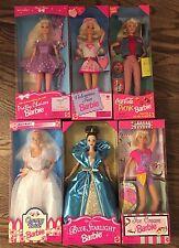 BARBIE 1990s doll lot NRFB Blue Starlight Coca Cola Valentine Fun Ice Cream more