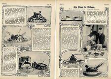 Ein Dinner in Bildern (u.a.geeiste Gänseleberpastete) Kulinarischer Bericht 1911