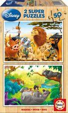 Puzzle bambino 2 x Quota 50 - Disney: Amanti animali (in legno) di Educa