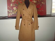 NWT J. Crew  Icon trench coat in Italian wool cashmere 28231 hthr acorn $365 4