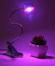 Full Spectrum 15W 40 LED Grow Light Desk Clip On Lamp Hydroponic Plant Indoor