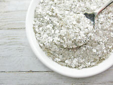 Vintage Style MICA Flakes Silver Christmas SNOW Flakes Crafts 1 oz. Glitter