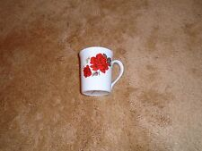 Staffordshire England Fine Bone China Crown Red Roses Demitasse Tea Cup