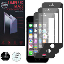3 Films Verre Trempe Protecteur Protection NOIR pour Apple iPhone 5C