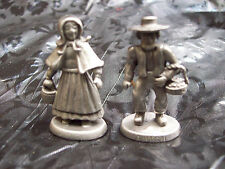 Amish Made Pewter Man and Woman with Baskets Horse Buggy Dolphin Sea Lion Extras