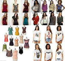 NEW 200 Wholesale Lot Tops Blouses Shirts Dress Mixed Women Casual Apparel S M L