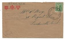 WW2 Salvation Army YMCA ACF Cover Field PO 036 Ravenshoe Queensland Censor Cover