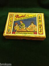 Vintage 1930's Plastal Painting Set with Boy & Girl Cast Figures& Paints~Germany