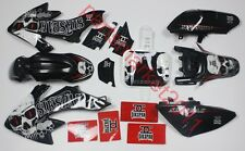 Black Plastics & 3M Sikspak Decals Graphics For Honda CRF50 XR50 bikes SSR SDG