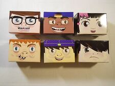 Complete Set of 6 SKOOL BLOX Taco Bell Kids Meal 2010 Promotion Toy NIP Sticker