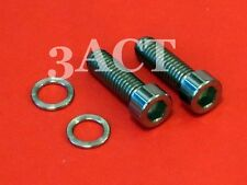 2 pcs Titanium Bolt M6 x 19mm w/ Ti Washer - Shimano Crank Arm XT, SLX, 105