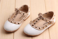 Princess Flower Toddler Girl Sandal Strappy Buckle T-Strap Dance Flat Baby Shoes