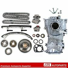 Fits 98-01 Nissan Altima 2.4L KA24DE Engine Timing Cover Chain Kit and Oil Pump