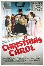 "CHARLES DICKENS A CHRISTMAS CAROL - CLASSIC MOVIE POSTER 12"" X 18"""