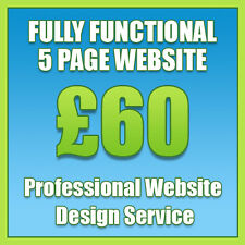 Web Design, Bespoke 5 Page Website, Professional Website Design Services