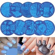 Manicure 10 Pieces of Nail Art Stamp Stencil Scraper and Stamp Set