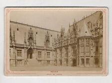 PHOTO ANCIENNE CARTE CABINET - ROUEN Palais de Justice Avant 1900